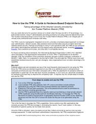 How to Use the TPM - Trusted Computing Group