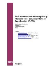 IF-PTS - Trusted Computing Group