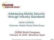 Addressing Mobile Security Through Industry Standards - Trusted ...