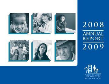 2008/2009 Annual Report - Public Guardian and Trustee of British ...