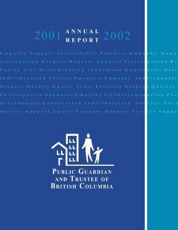 2001-2002 Annual Report - Public Guardian and Trustee of British ...