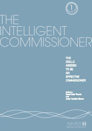 The Intelligent Commissioner - Report 1