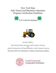 Tractor and Machinery - 4-H - Cornell University