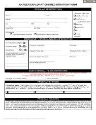 CAREER EXPLORATIONS REGISTRATION FORM - 4-H