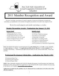 2011 Member Recognition and Award - 4-H