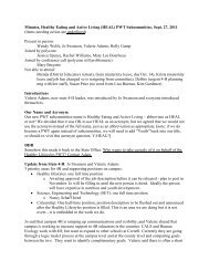 Minutes, Healthy Eating and Active Living (HEAL) PWT ... - 4-H