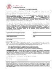 VOLUNTEER AUTHORIZATION FORM Sample Template to be ... - 4-H