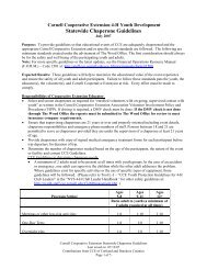 Statewide Chaperone Guidelines - 4-H