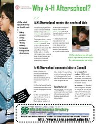 Why 4-H Afterschool? - 4-H - Cornell University