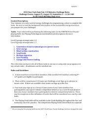 1 2012 New York State Fair 4-‐H Robotics Challenge Rules ...