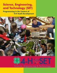Science, Engineering, and Technology (SET) - 4-H