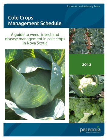 Guide to Pest Management in Vegetable Crops - Perennia
