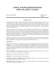 Apple and Pear Rootstocks for Atlantic Canada - Perennia