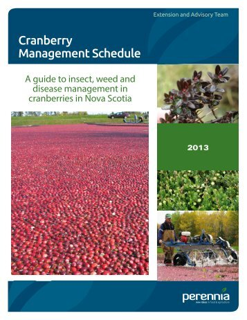 Guide to Pest Management in Cranberry - Perennia