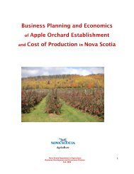 Business Planning and Economics of Apple Orchard ... - Perennia