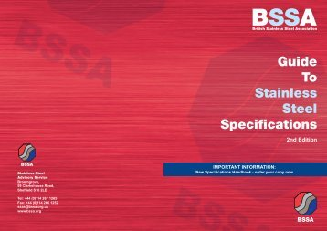 information flyer and order form - British Stainless Steel Association