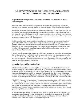 Advice Note 3 Jan 2002.pdf - British Stainless Steel Association