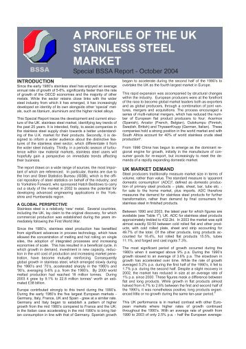 Special report October 04.pdf - British Stainless Steel Association