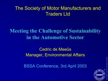 Conf 03 Meeting the Challenge of Sustainability in the Automotive ...