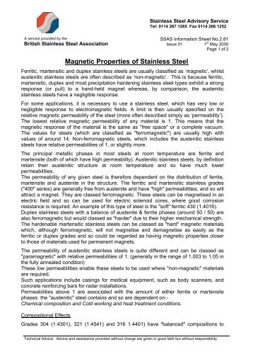 SSAS2.81-Magnetic Properties.pdf - British Stainless Steel Association