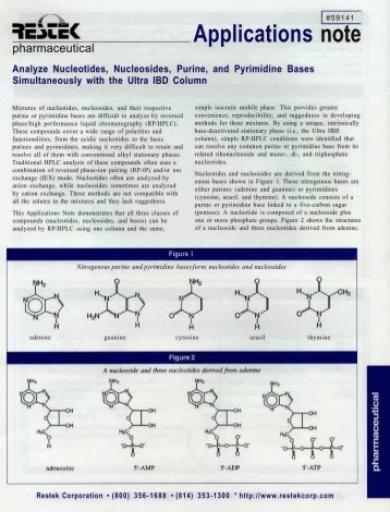 Analyse Nucleotides, Nucleosides, Purine and Pyrimidine Bases ...