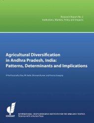 Agricultural Diversification in Andhra Pradesh, India - OAR@ICRISAT