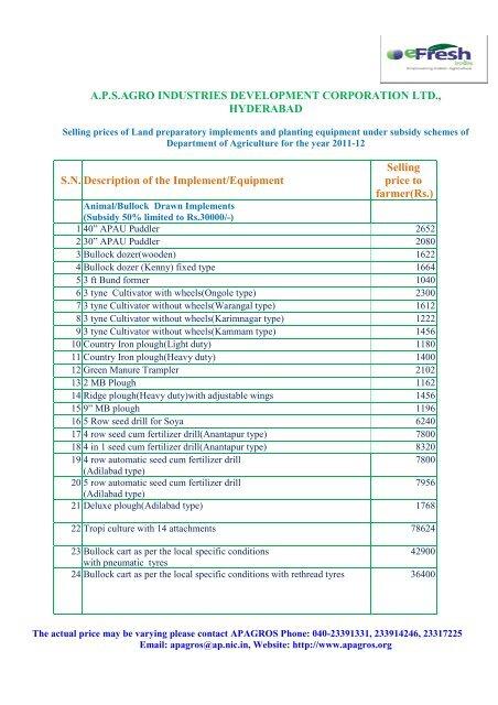 aps agro industries development corporation ltd     - Efresh India