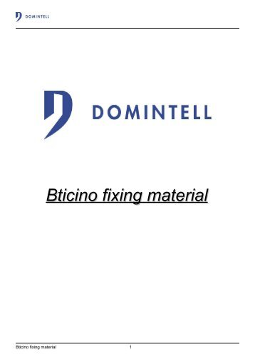 Bticino fixing material - EL-Mont