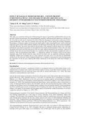 effect of bacillus thuringiensis (bt) - Kenya Agricultural Research ...