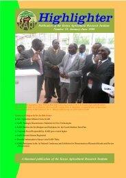 January - June 2008 - Kenya Agricultural Research Institute