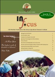 Issue No. 10 - Kenya Agricultural Research Institute