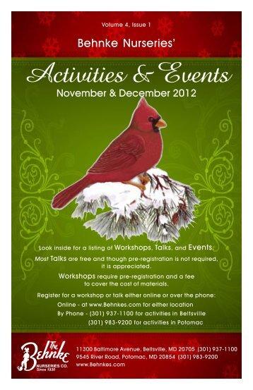 Activities & Events - Behnke Nurseries