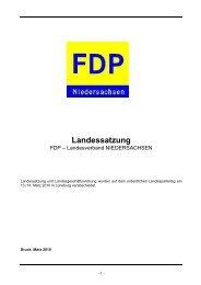 Landessatzung - FDP Niedersachsen