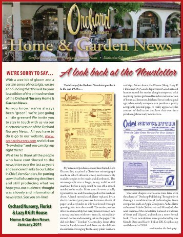 Orchard Newsletter October 2004 - Orchard Nursery