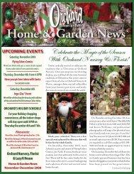 Orchard Newsletter October 2004 - Orchard Nursery