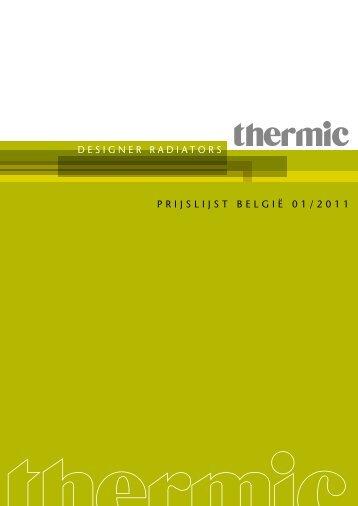 DESIGNER RADIATORS PRIJSLIJST BELGIË 01/2011 - Thermic
