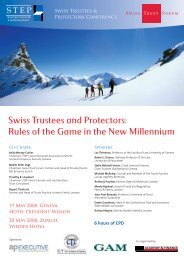 Swiss Trustees and Protectors: Rules of the Game in the ... - trusts.ch