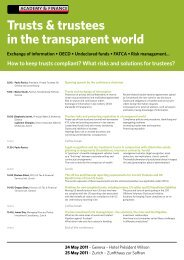 Trusts & trustees in the transparent world - trusts.ch