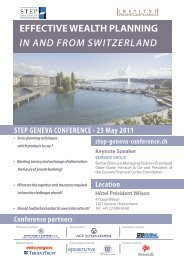 EFFECTIVE WEALTH PLANNING in and from Switzerland - trusts.ch