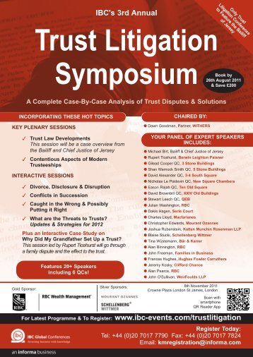 IBC's 3rd Annual Trust Litigation Symposium - trusts.ch