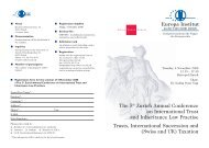 The 5th Zurich Annual Conference on International Trust ... - trusts.ch