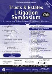 Litigation Symposium - trusts.ch