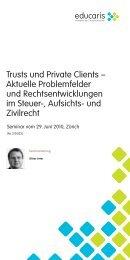 Trusts und Private Clients – Aktuelle Problemfelder und ... - trusts.ch