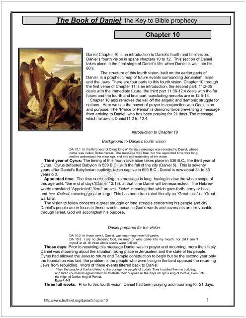 Daniel Chapter 10 - Truthnet
