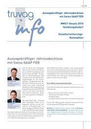 Aussagekräftiger Jahresabschluss mit Swiss GAAP FER - Truvag ...
