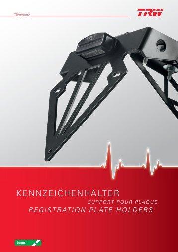 KENNZEICHENHALTER - TRW
