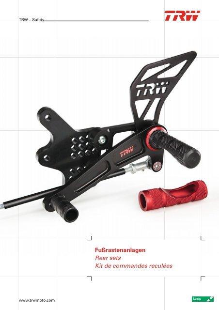 MCF721-L TRW Rearsets Adaptors and Footrests
