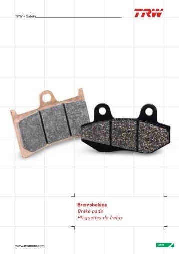 Bremsbeläge Brake pads Plaquettes de freins - Produkte24.com