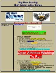Invitational List Open Athletes Wishing To Run - TRXC Timing