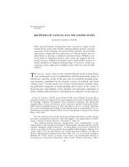 reception of vatican ii in the united states - Theological Studies